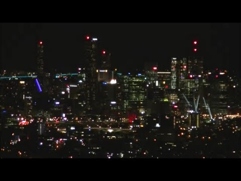 [HD] Brisbane Australia Night View From Mount Coot-Tha