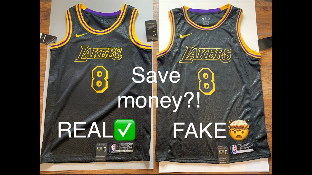 Kobe Mamba Lakers Jersey Authentic vs. Fake review (How to keep scammers away)