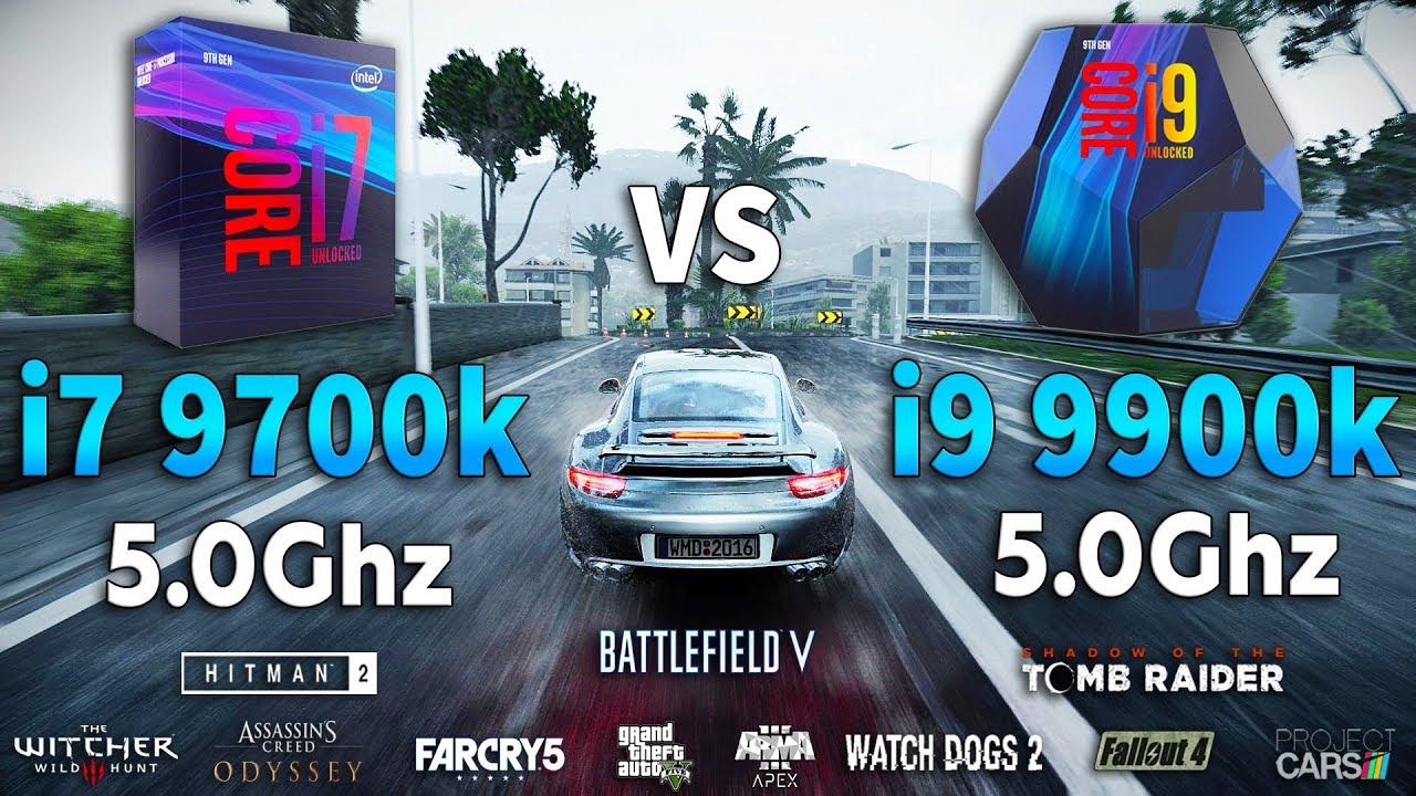 i7 9700k OC vs i9 9900k OC Test in 10 Games