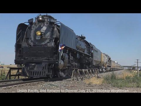 Union Pacific 844 returns to Denver