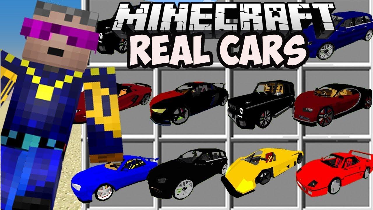 Minecraft REALISTIC CARS MOD (Spotlight) (2021) YouTube