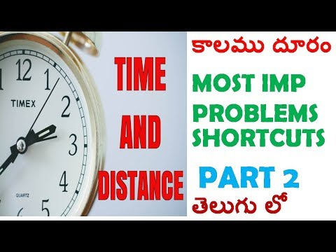 Time and Distance Most Imp Problems Shorcuts || In Telugu || PART 2