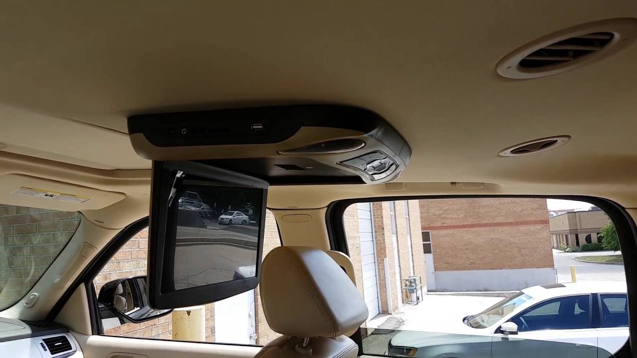 12 Quot Roof Mount Flip Down Car Dvd Player Installed In