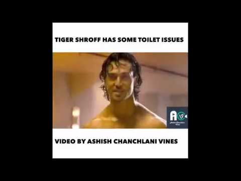 Tiger Shroff Has Some Toilet Issues || Ashish Chanchlani funny video