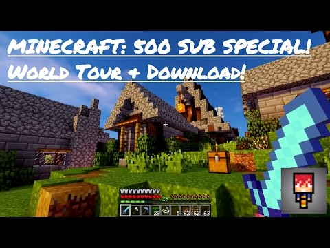 Minecraft| 500 SUBSCRIBER WORLD TOUR & DOWNLOAD! (Ep 67)