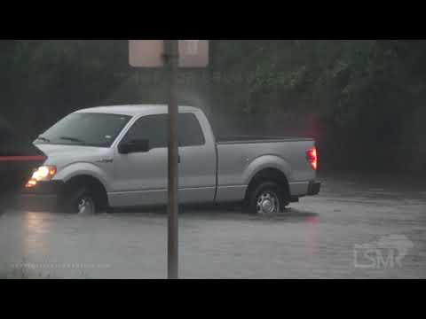09-22-20 Houston, Tx Flash flooding stalls cars - floods houses, gas station - people  in water Beta
