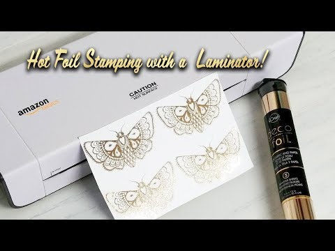 EASY Diy Hot Foil Stamping with a Laminator and Laser Printer