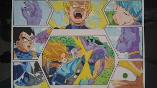 DRAGON BALL HOW TO DRAW VEGETA SSJ VS BEERUS THAT