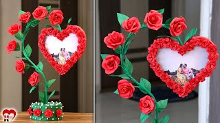 Love Couple!!! Paper Heart Photo Frame Making Idea screenshot 2