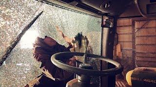 John Deere 8235R Tractor Broken Glass Removal