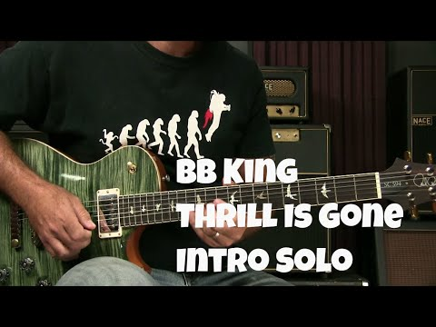 Blues Guitar Lesson: How To Play The Thrill Is Gone by BB King Intro Solo