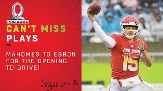 Mahomes Finds Ebron in the End Zone on Opening TD Drive!   2019 Pro Bowl