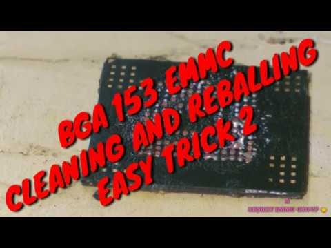 EMMC REBALLING CLEANING BGA 153