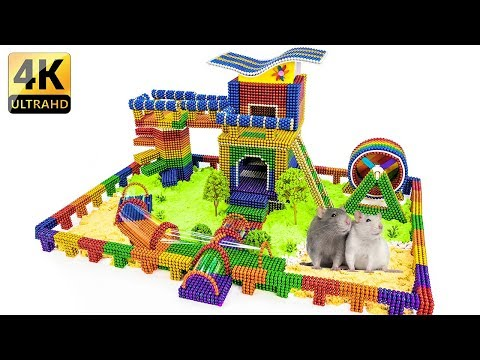 DIY - How To Build Amazing Hamster Playground With Magnetic Balls - 100% Satisfaction - Magnet Balls