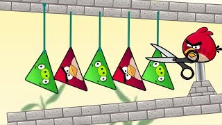 Angry Birds Piggies Out - RESCUE THE TRIANGLE BIRDS FROM TRIANGLE PIGS FULL!!