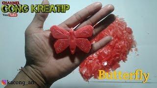 Cara membuat patung kupu kupu dari sabun batang belajar mengukir sabun