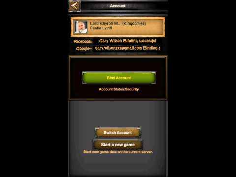 Clash Of Kings Android 'How To Switch Accounts