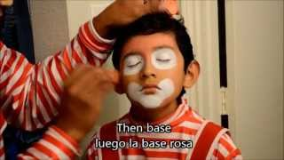 Maquillaje payaso pikitos, nueva version.  Clown make up, new version (easy way)