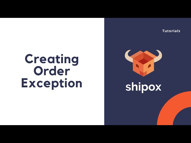 Creating order Exception   Shipox
