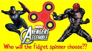 Fidget Spinner Chooses Captain America OR Red Skull coloring page from Marvel Comics