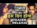 Salman Khan's Tiger Zinda Hai TEASER Relase Date Revealed