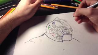 Drawing WWE Superstar Kalisto