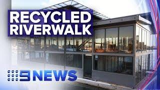 Brisbane Riverwalk pontoons finds second purpose | Nine News Australia