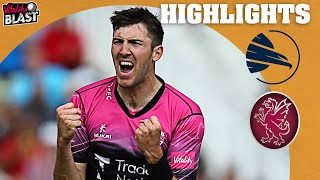Download Thrilling Game to Start the Finals! | Hampshire Hawks vs Somerset - Highlights | Vitality Blast 2021