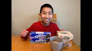 Korean Oreo and Milk Tea Taste Test