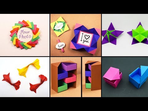 6 Easy Paper Crafts | Handmade Crafts | Paper ART 013
