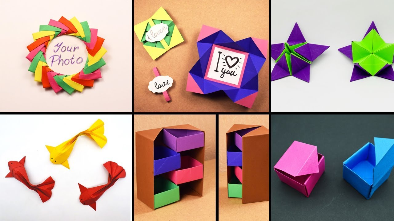 6 Easy Paper Crafts Handmade Crafts Paper Art 013 Youtube