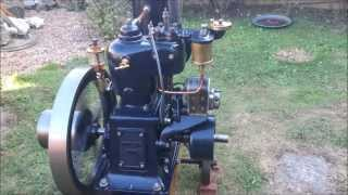 1hp Moteur Japy 1919, hit and miss, vertical open crank
