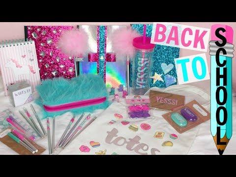 BACK TO SCHOOL HAUL, DIYs & GIVEAWAY!! ♡ School Supplies ♡ Target & Dollar Spot