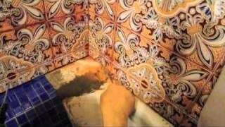 Облицовка мозаикой чугунной ванны Ч 1(Здесь показана облицовка ванны мозаикой изнутри,на клей Юнис-бассейн.Ванна старая чугунная,прошла весь..., 2010-12-18T23:36:44.000Z)