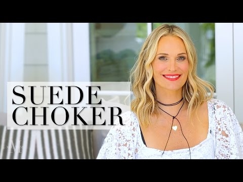How To Make A Suede Choker And 3 Ways To Wear It
