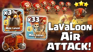 3 Max Lava 33 Max Loon :: Perfect 3 Star Th 11 War Air Attack!!! Lavaloon | Clash Of Clans!