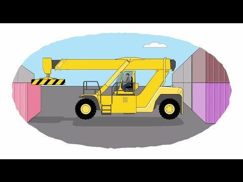 Мультик - Раскраска. У... : Мультфильмы про машинки - Рабочая и строительная техника (сборник)