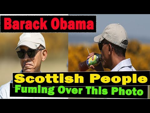 Scottish People Are Fuming Over This Photo Of Barack Obama On His First Visit To The Country