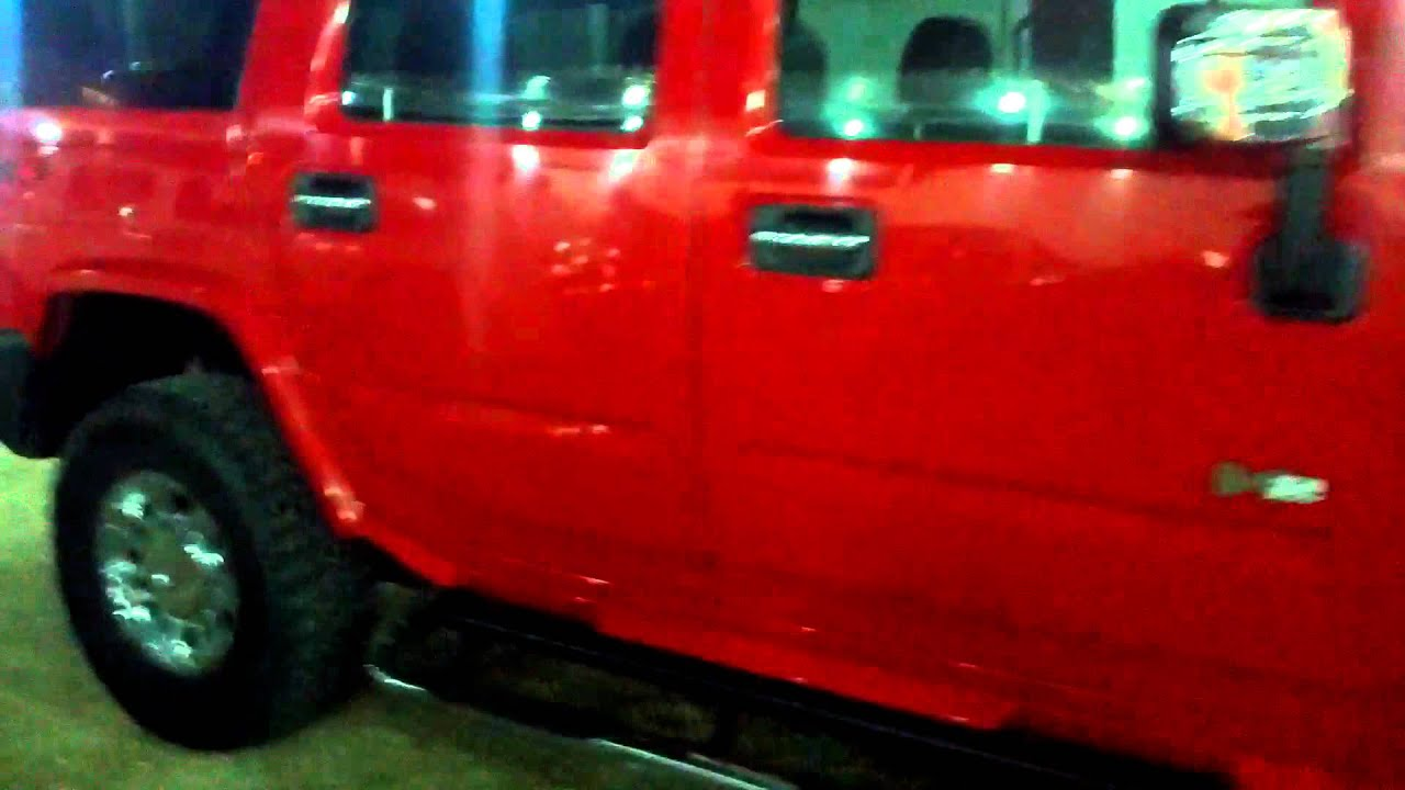 Red hummer h2 2007
