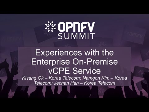 Experiences with the Enterprise On-Premise vCPE Service