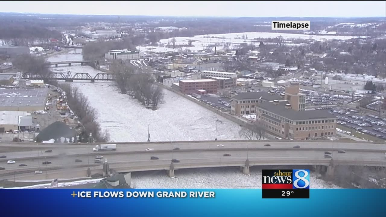 Grand River Flow >> Timelapse Video Of Ice Jams On Grand River