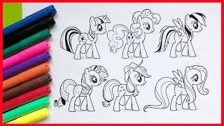 Đồ chơi trẻ em   Tô màu tranh My Little Pony   Bé học màu sắc và học vẽ (Chim Xinh)