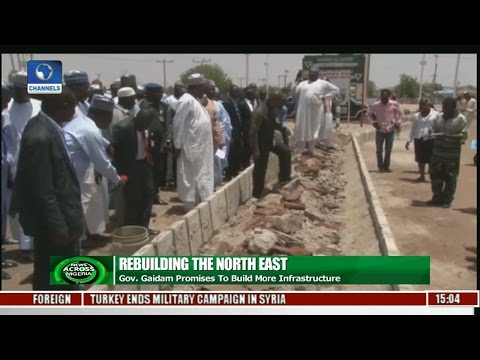 News Across Nigeria: Gov  Gaidam Promises To Build More Infrastructure