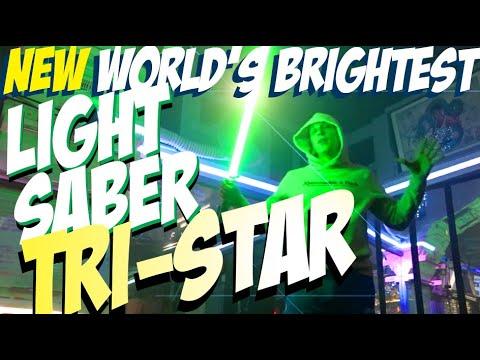 NEW WORLD'S BRIGHTEST LIGHTSABER: THE TRI STAR! TRIPLE STRIP RGB PHOTON NEOPIXEL BLADE