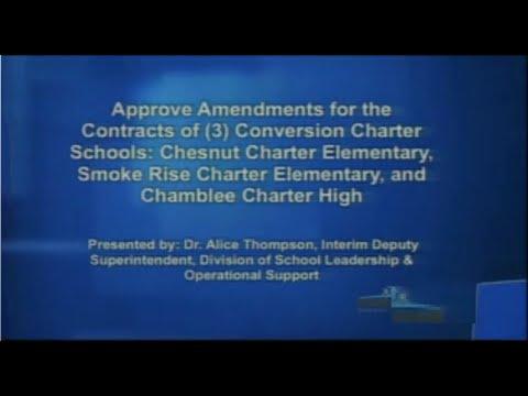 10/17/2013 - Charter Contract Amendment - DeKalb Schools Board