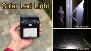 Solar Led Motion Detected Light