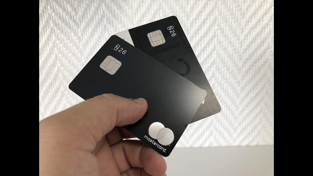 Carte N26 Black Retrait.N26 Metal Deballage De La Carte Metal Mastercard