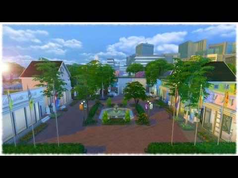 Sims 4 speed building - Shopping Village, Part 1
