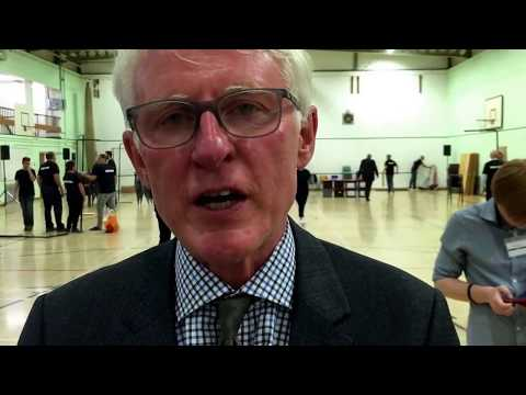 Norman Lamb celebrates retaining the North Norfolk seat at the General Election 2017
