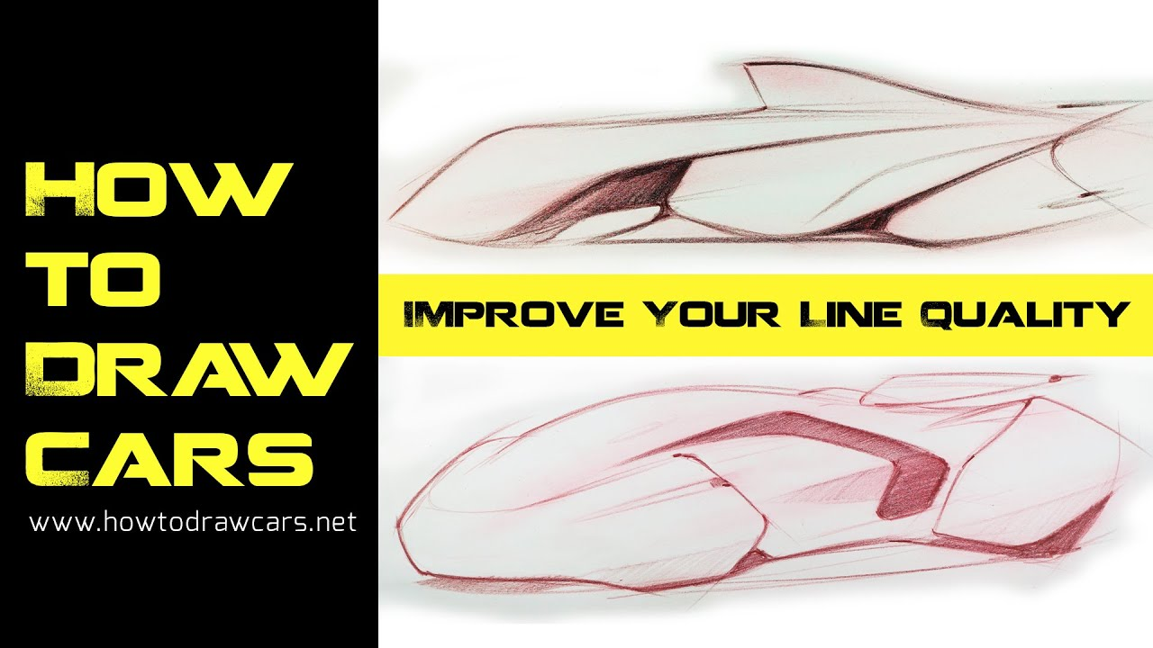 Car Design Drawings - Secrets to Improving Your Line Quality Pt2 ...
